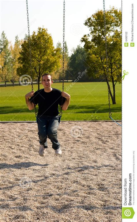 swinging man adult man swinging stock photography image 6490102