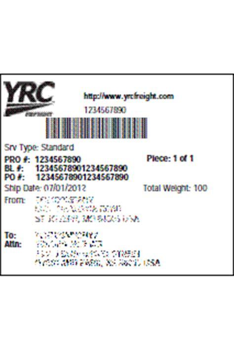 my.yrc.com: shipping labels | yrc
