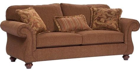 Upholstery Fabric Sofa by Broyhill Furniture Cierra Traditional Style W Cherry