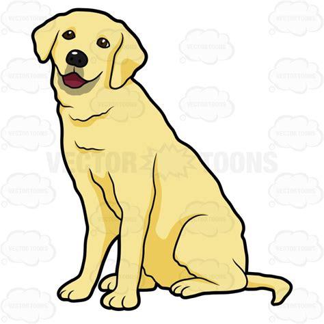 golden retriever emoji side view of a yellow labrador sitting stock graphics vector