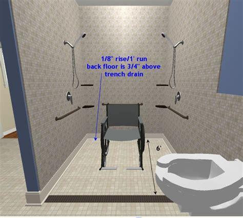 Ada Roll In Shower by Roll In Shower Handicap Bathroom Ideas