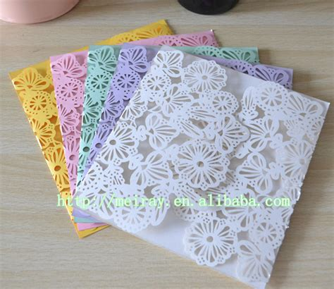 Wedding Invitations Yellow Paper by 50pcs Lot Europe Luxury Wedding Invitations Light Purple