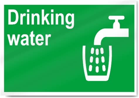 drinking water safety signs signstoyou com