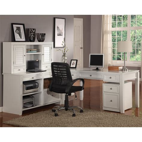 White L Shaped Desk With Hutch To It House Boca L Shaped Desk With Credenza And Hutch Cottage White 1708