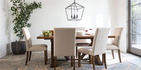 Transitional Dining Room With Chandler Dining Set Living