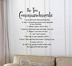 Inspirational Quotes Decor For The Home The 10 Commandments Vinyl Wall Inspirational Quotes And Saying Home Decor Decal