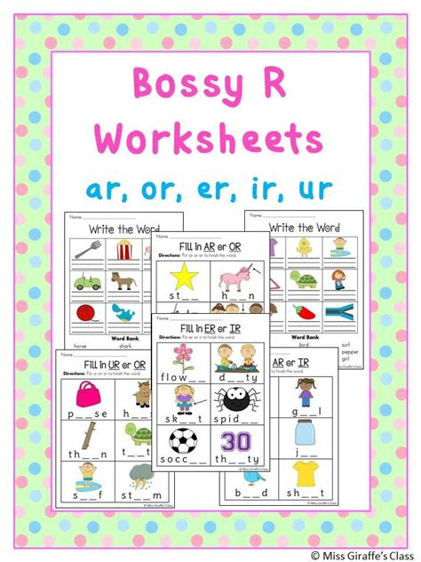 r controlled vowels worksheets reading