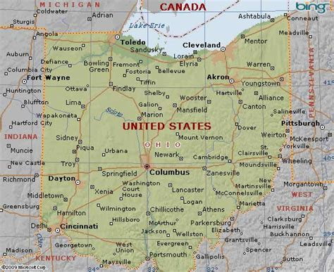 ohio state map usa maps us country maps