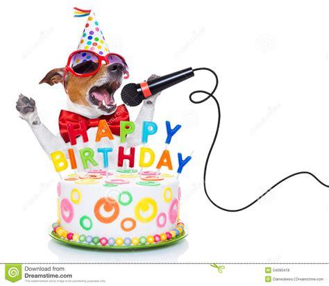 puppy singing happy birthday singing happy birthday clipart clipartxtras