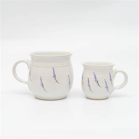Handmade Tea Cups - handmade lavender tea cup by terry pottery