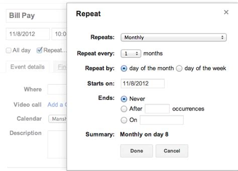 When Calendars Repeat Use Calendar To Track Your Monthly Payments