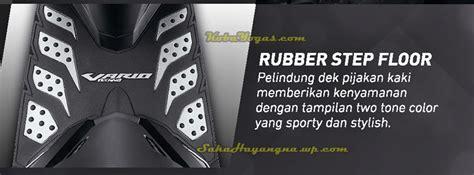 Karpet Rubber Stepfloor Honda New Vario Techno 150 125 Hitam Silver honda new vario 150 harga aksesoris resminya sudah