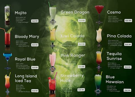 juice menu card templates drink menu templates 30 free psd eps documents