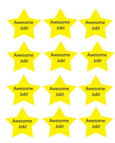 Printable Star Tokens | free printable chore charts hubpages