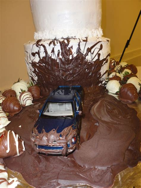 Truck in Mud Cake   Party ideas   Pinterest