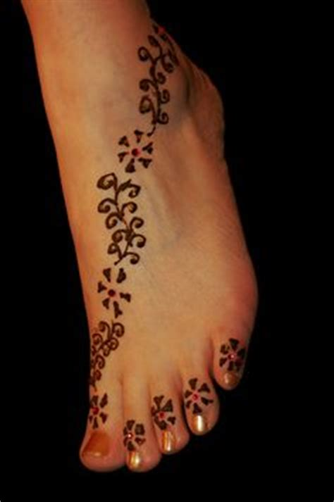 henna for feet got one similar to this today but not on