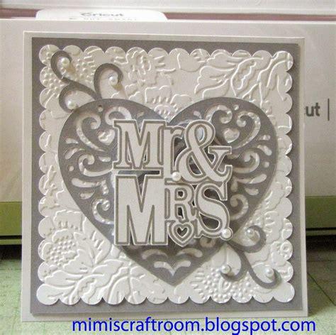 card with cricut mimi s craft room wedding card using