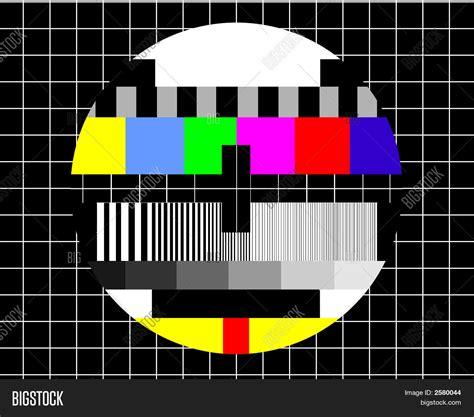 Bedroom Tv No Signal Blank Tv Test Screen Image Photo Bigstock
