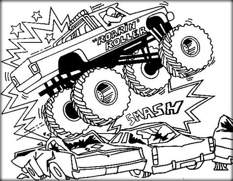 monster trucks pictures print and color truck jam coloring