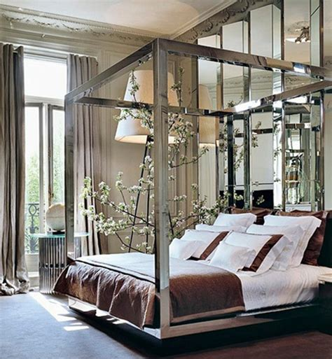 high end glamorous decorating chic apartment bedroom