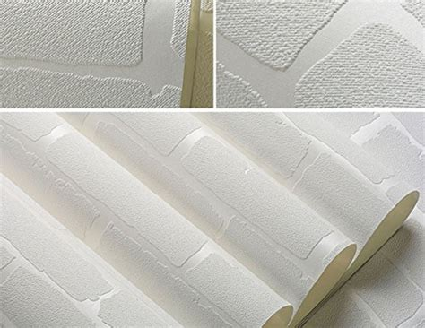 white brick self adhesive wallpaper by the binary box removable peel and stick 3d white brick wallpaper mural