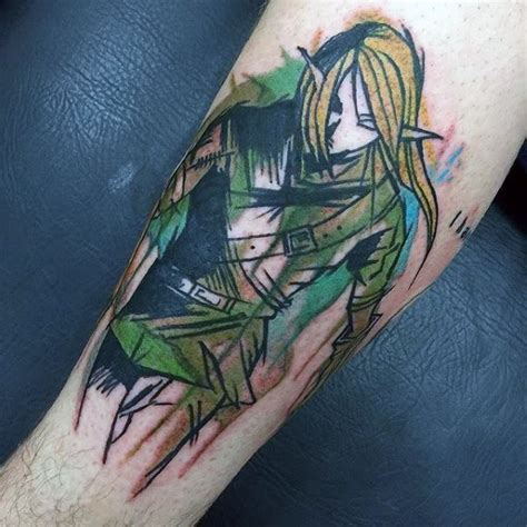watercolor tattoo zelda 90 tattoos for cool gamer ink design ideas