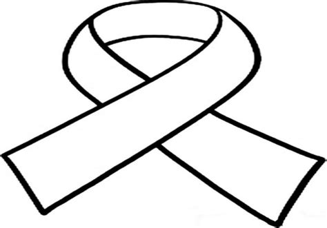coloring page of autism ribbon cancer ribbon coloring page white awareness clip art at