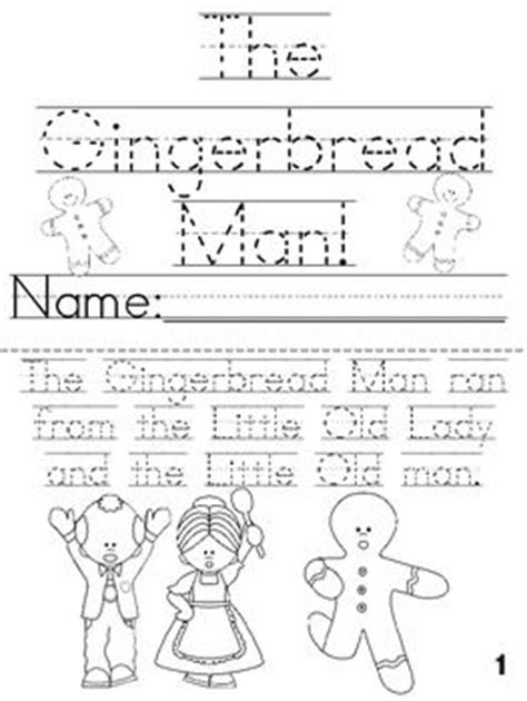 gingerbread man printable book for kindergarten quot the gingerbread man quot cut trace color printable book