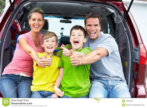 family car family car stock image image of summer people happy
