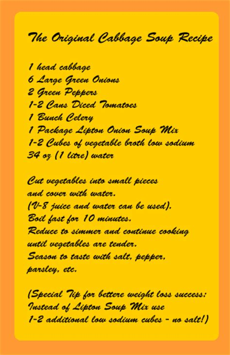 Cabbage Soup Detox Diet Plan Recipe by Cabbage Soup Diet Recipe Healthy Recipes For The Cabbage