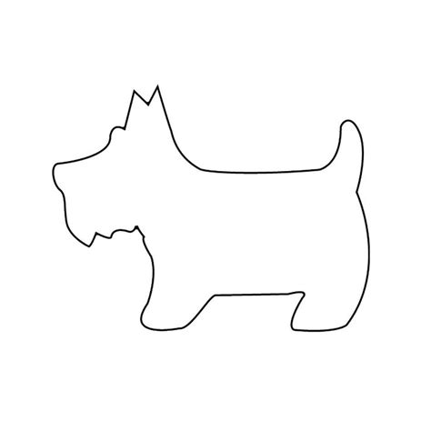 Puppy Template scottish terrier quilt pattern free trace the pattern on