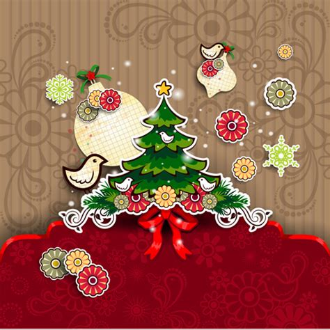 design online xmas card christmas cute greeting cards design vector 05 vector