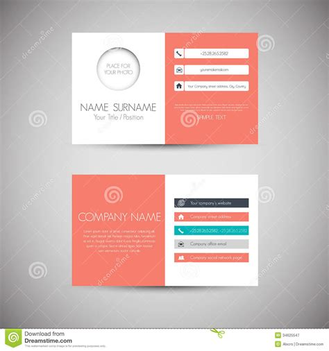 free flat card templates business card royalty free stock photography image 34625547