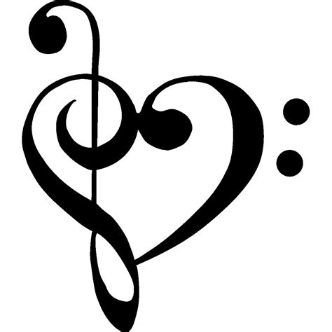 treble bass clef tattoo designs treble clef bass clef clipart best