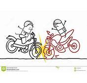 Accidente De La Motocicleta Imagen Archivo Libre