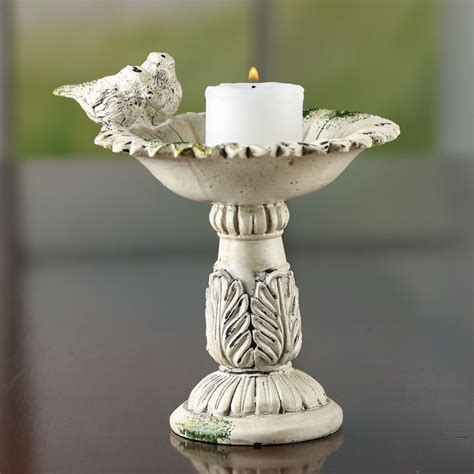 home decor candle holders and accessories elegant bird bath candle holder candles and accessories home decor