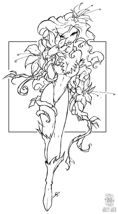 chibi poison ivy coloring pages coloring pages
