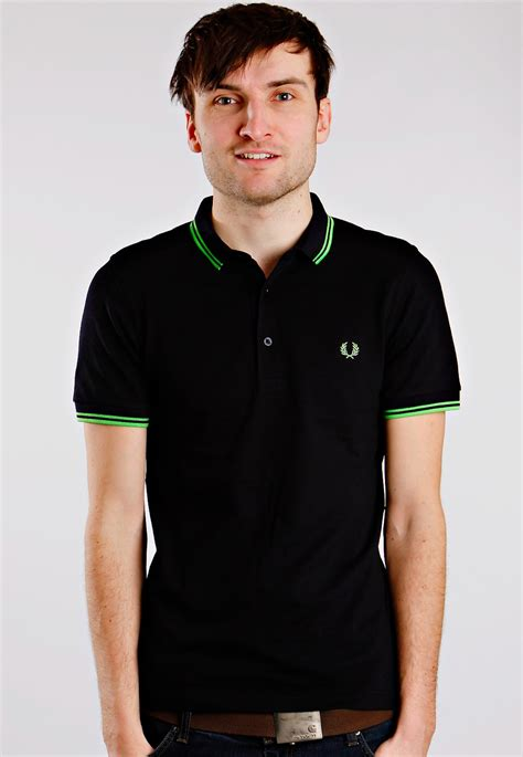Fred Perry fred perry small collar stretch navy polo streetwear