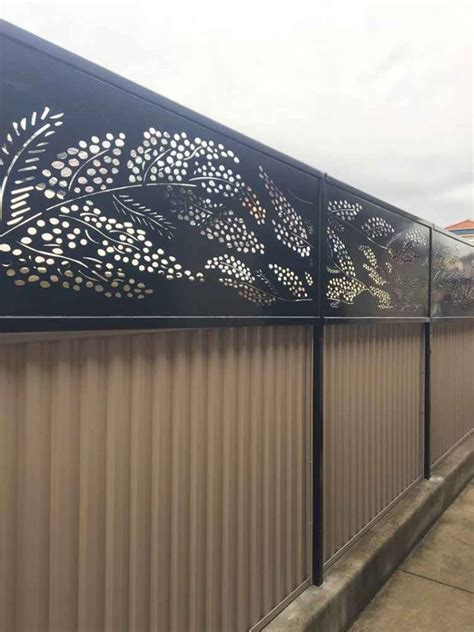 fence toppers cootamundra wattle fence toppers iron bark metal design