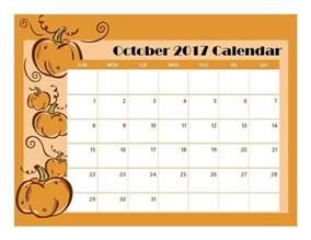 free october calendar template october 2017 printable calendar free printable calendar