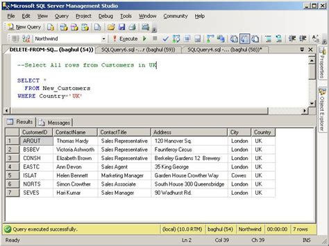 How To Remove Address From Records Delete From Sql Statement With Sql Server 2008 Delete From Information On How