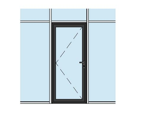 revit door in curtain wall aluk 58bd residential single door curtain wall insert bimstore