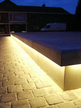 under bench led lighting bespoke led concrete benches balgerhoeke village square