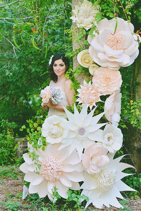 Paper Flower Ideas - paper flower backdrop ideas