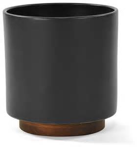 pots and planters modernica case study planter w plinth charcoal modern indoor pots and planters by horne
