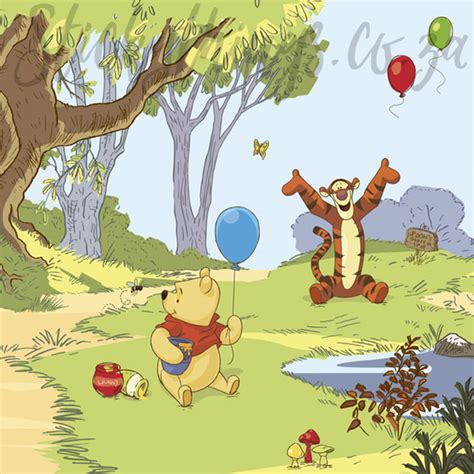 winnie the pooh wall murals winnie the pooh mural disney pooh friends wallpaper mural stickythings south africa
