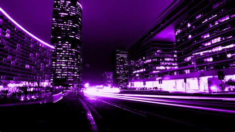 Dogs Wallpaper by Screenheaven Purple Abstract City Buildings Lights High