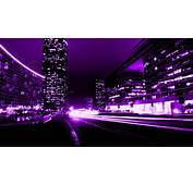 ScreenHeaven Purple Abstract City Buildings Lights High
