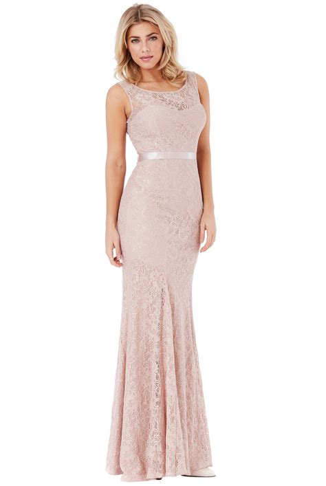 dress lydia abu lu open back lace maxi dress with ribbon tie forever
