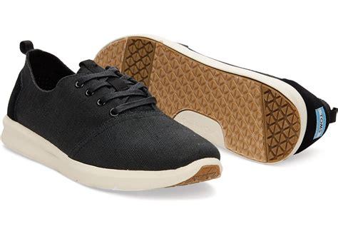 toms sneakers toms black burlap s sneakers in black for